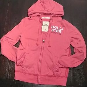 NEW LIST Hollister full zip hoodie. Jr. size med.